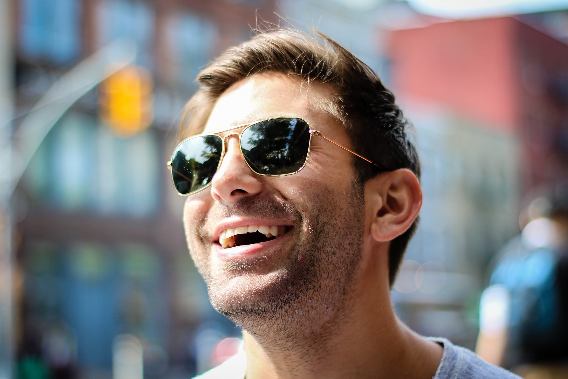holistic dentist in Prescott - man with sunglasses