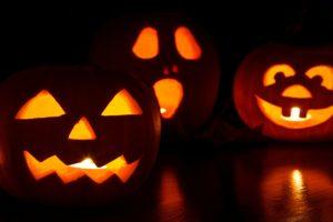 three jackolanterns - healthy halloween tips