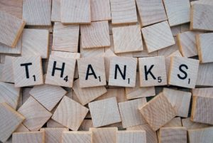 scrabble thanks - benefits of gratitude