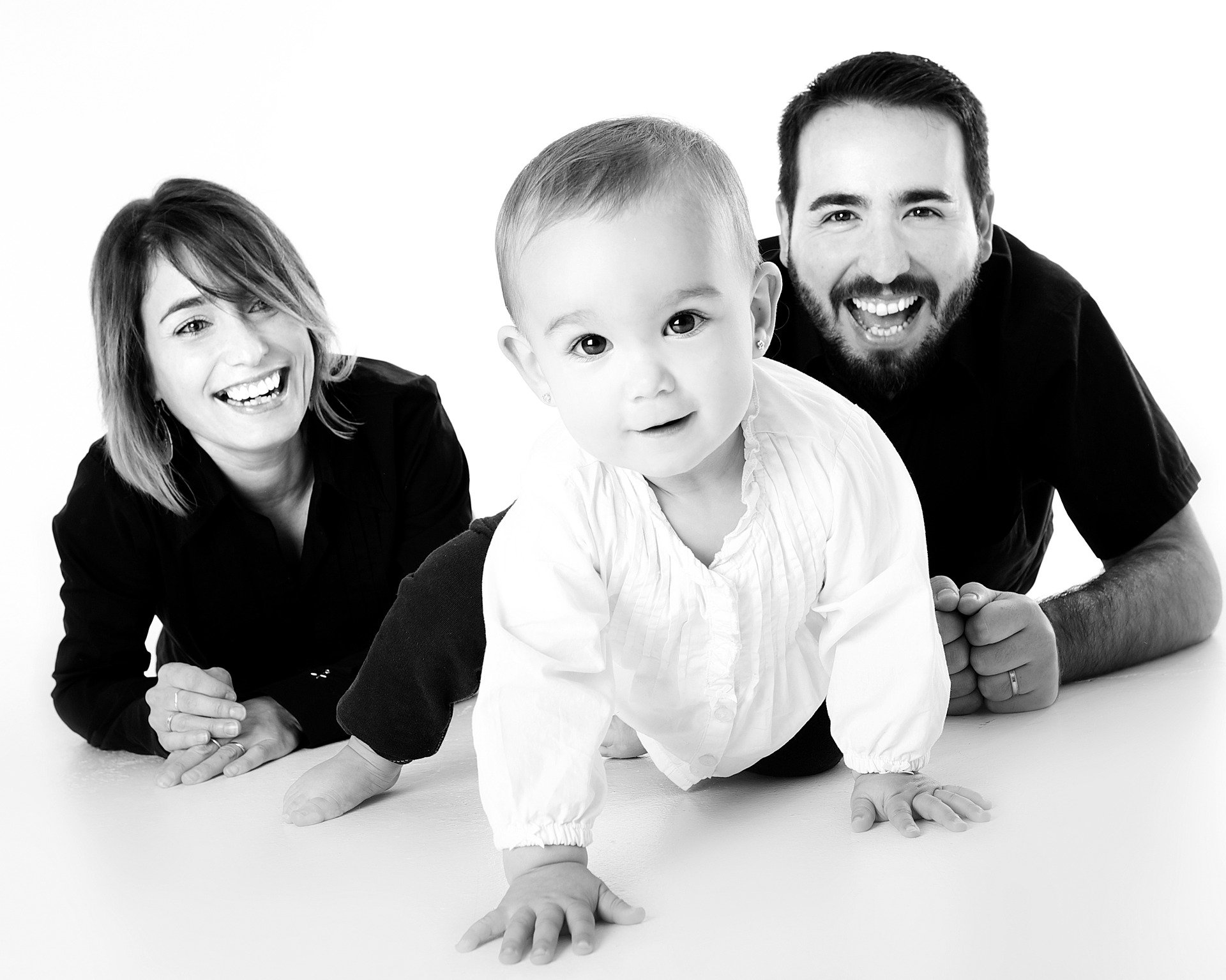 family smiling - prevent enamel loss
